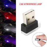 1pcs Mini Flexible USB LED Lamp Car Atmosphere Lamp Light Colorful Accessories