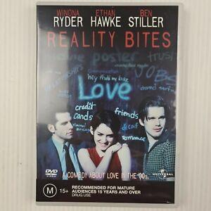 Reality Bites DVD - Winona Ryder Ethan Hawke Ben Stiller - R2,4 - TRACKED POST
