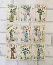 Vintage Style Fairy Card Toppers, Gift Tags Craft Make Your Own