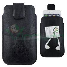 Custodia sacchetto Nero passante cintura per Huawei P9 Lite CS55