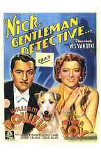 AFTER THE THIN MAN POSTER- W, POWELL- M,  LOY- BELGIUM  ART - UNIK -ONLY  $4.99