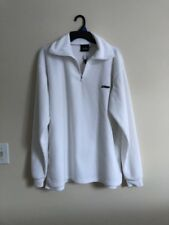 Mens Large Spyder Bandit White Pullover Half Zip Long Sleeve Half Zip Shirt~Euc