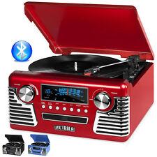 Victrola 50's Retro Record Player Stereo Bluetooth USB Encoding CD V50-200-RED