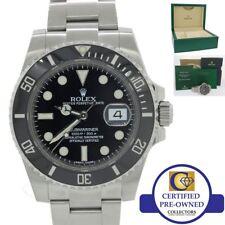 f7028de4ec9 2018 Rolex Submariner Data 116610 Ln Aço Relógio De Mergulho De Cerâmica  Preto Com Caixa N8