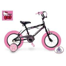 """Vélo Enfant +3 ans Hello Kitty Noir 12"""" + 2 Petites roues Sanrio"""