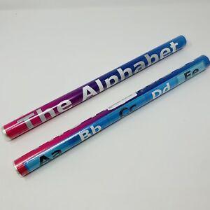 School Smarts ABC Alphabet Poster Fully Laminated Teaching Tool Set of 2
