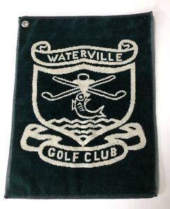 Waterville Golf Green White Bag Towel Vintage but Unused Golfbag