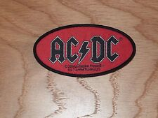 ACDC - OVAL LOGO (NEW) SEW ON W-PATCH OFFICIAL BAND MERCHANDISE
