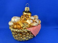 French Bread Basket Bagget Food Chef Baker Christmas Ornaments Poland 011304