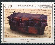 TIMBRE ANDORRE FRANCE NEUF N° 523  **  COFFRE AUX SIX SERRURES