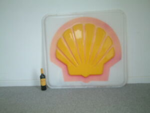 VERY LARGE GENUINE  VINTAGE SHELL PETROL FUEL  FORECOURT  SIGN RETRO