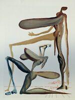 Dali Salvador: Fegefeuer 22 - Holz Graviert Original,1960,Die Göttliche Komödie
