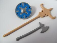 Playmobil Knight/Castle/Viking/Barbarian shield, staff & axe weapon NEW