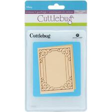 Cuttlebug embossing folders TIFFANY rectangle frame embossing folder