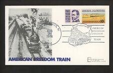 US Postal History Railroad Train Pictorial Freedom 1976 New Brunswick NJ #1506`