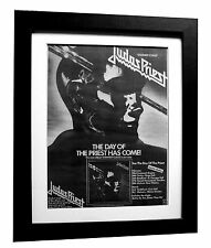 JUDAS PRIEST+Stained Class+POSTER+AD+RARE+ORIG 1978+FRAMED+EXPRESS GLOBAL SHIP