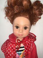 """18"""" Unneeda Vinyl Girl Doll Red Hair Brown Eyes"""