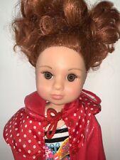18� Unneeda Vinyl Girl Doll Red Hair Brown Eyes
