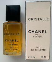 Chanel CRISTALLE Eau de Toilette 59 ml 2 fl oz rare vintage