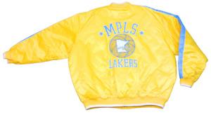 Mens G-III Minneapolis Lakers Hardwood Classics Nylon Basketball Coat Jacket