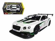 BBURAGO 18-28008 BENTLEY CONTINENTAL GT3 #7 1/24 DIECAST MODEL CAR WHITE