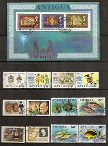 Antigua - 1972 to 1976 - Four different commemorative sets - Used