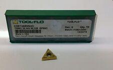 Tool Flo TNMC 32 NG W .125 GP50C New Carbide Inserts 10 pcs