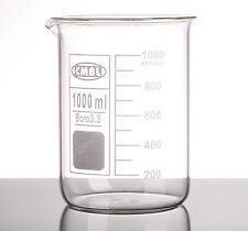 1000mL Glass Beaker,1L Low Form Beakers,Borosilicate 3.3 Glassware