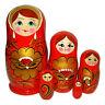 Poupée Russe 5 pieces cadeau Enfant, Poupée Russe Matriochka rouge