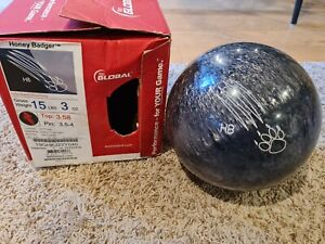 900 Global Honey Badger Black Silver Grey 1st Quality Bowling Ball | 15 Pounds
