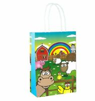Luxury Party Treat Sweet Loot Lunch Gift 6 Farm Bags With Handles