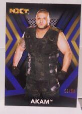 Akam 2017 Topps WWE NXT Blue Variant /50