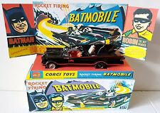 CORGI Toys Batman 267 BATMOBILE Diecast Model Car & Repro Box Plinth + Extras [e