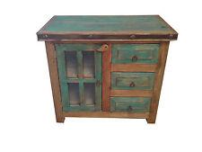 """Custom Rustic Turquoise Bathroom Vanity 36"""" wide"""