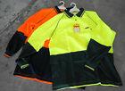 Polo Shirt Top Long Sleeve Work Orange Lime Yellow Hi Vis BISLEY