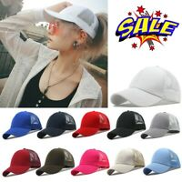 Men Women Baseball Cap Snapback Hat Hip-Hop Outdoor Adjustable Bboy Cap Ponytail
