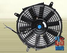 "16"" inch Universal Slim Fan Push Pull Electric Radiator Cooling 12V Black Kit"