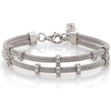Armband damen Nomination 144803 010 Flair doppelt draht silber zirkone weiß