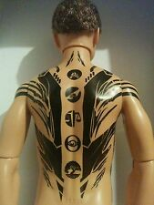 KEN DIVERGENT FOUR Articulated Nude Doll with Tattoo, COA included,new unused