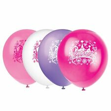 "Pack of 8 Mixed Princess Birthday Party Balloons 12"" Latex Suit Air Or Helium"