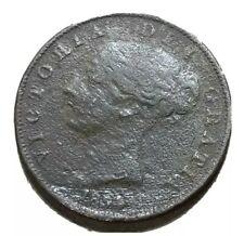 UK 1854 1/2 Half Penny Copper Coin VF-XF Victoria KM 726