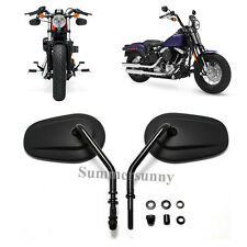 BLACK MOTORBIKE MOTORCYCLE REAR VIEW MIRRORS CNC ALUMINIUM FOR Harley-Davidson