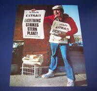 Stern LIGHTNING 1981 Original NOS Flipper Arcade Game Pinball Machine Sale Flyer