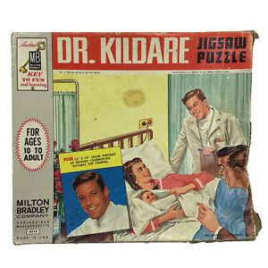 Vintage 1962 TV's Dr. Kildare Jigsaw Puzzle #2 600+ COMPLETE Milton Bradley 4318