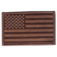 USA American Flag Embroidered Patch 3.5 x 2.25 Sew/Iron On NEW Desert Camo Patch