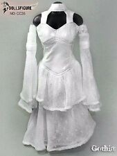 "DOLLSFIGURE 1/6 White Wedding Dress Female Clothes Set For 12"" Figure Body Toys"