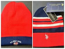 NWT US Polo Assn US Polo Association Reversible Beanie Hat Toboggan One Size