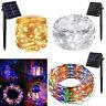 100 LED 10M Solar LED Fairy Light String Party Xmas Home Garden Outdoor Decor RO