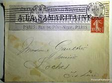 SEMEUSE  sur lettre LA SAMARITAINE 1908  201ca41
