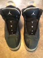Nike Air Jordan Two 311046-004 High Black Mens Shoes Size 14 No Shoestrings
